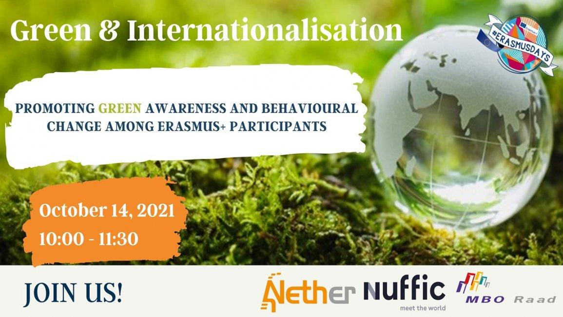 Registration opened: Webinar Green & Internationalisation